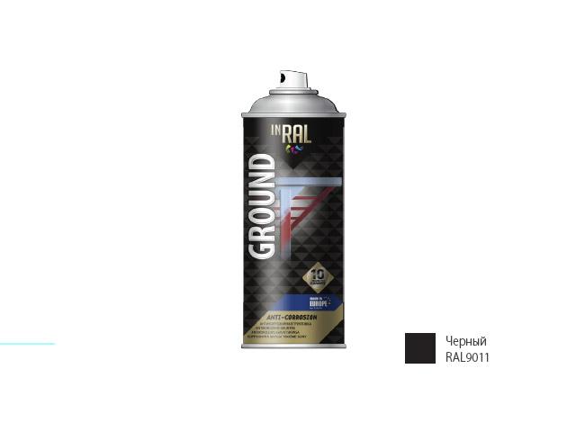 Грунтовка антикоррозийная черный INRAL 400мл (9011)